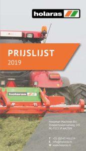 Prijslijst 2019